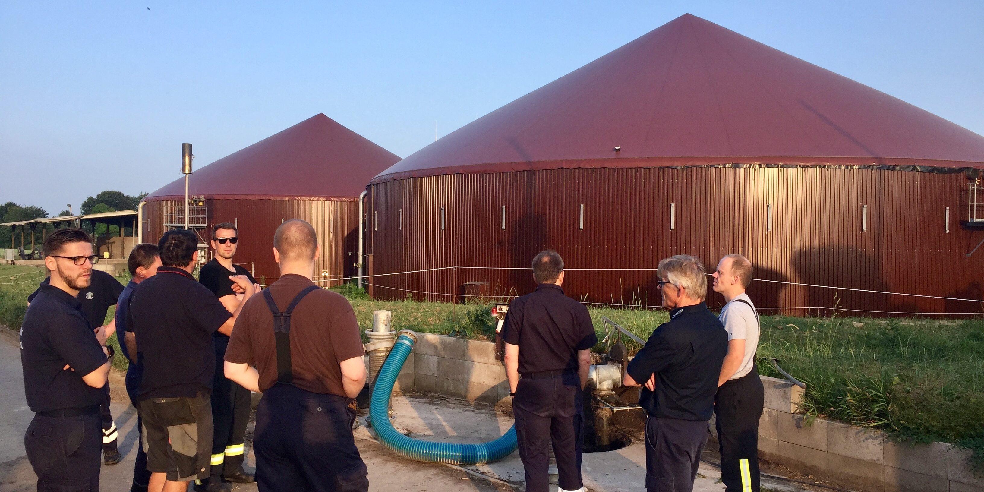 Objektschau bei einer Biogasanlage